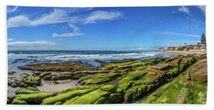 Beach Sheet featuring the photograph On The Rocky Coast by Peter Tellone