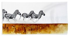 On The Run Beach Towel