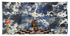 On The Square, By Raphael Terra And Mary Bassett Beach Towel