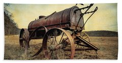 On The Water Wagon - Agricultural Relic Beach Towel