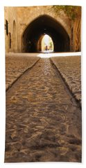 Beach Towel featuring the photograph On The Way To The Western Wall - The Kotel - Old City, Jerusalem, Israel by Yoel Koskas