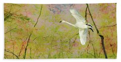 Beach Towel featuring the photograph On The Wing by Belinda Greb