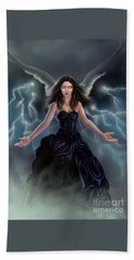 Beach Towel featuring the painting On The Wings Of The Storm by Amyla Silverflame