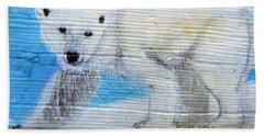 On Thin Ice Beach Towel by Ann Michelle Swadener