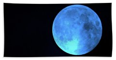 Once In A Blue Moon Beach Towel