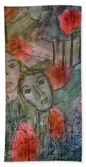 Beach Towel featuring the mixed media Once Upon A Time by Mimulux patricia No