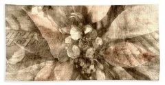 Once Upon Grandmom's Poinsettia Beach Towel