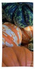 One Good Gourd Deserves Another Beach Towel by Patricia E Sundik