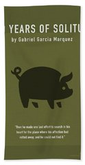 One Hundred Years Of Solitude Greatest Books Ever Series 012 Beach Towel