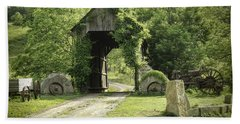 One Lane Covered Bridge Beach Towel
