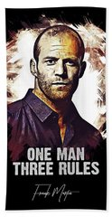 One Man Three Rules - Transporter Beach Towel