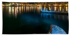 One Night In Portofino - Una Notte A Portofino Beach Towel