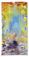 Beach Towel featuring the painting One On One by Raymond Doward