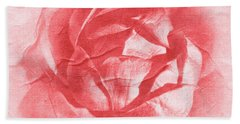 One Perfect Rose Beach Sheet by Iryna Goodall