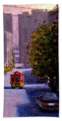 One Quiet Afternoon In San Francisco.. Beach Towel by Cristina Mihailescu