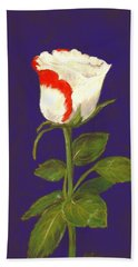 Beach Towel featuring the pastel One Rose by Anastasiya Malakhova