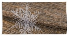 Beach Towel featuring the photograph One Snowflake by Ana V Ramirez