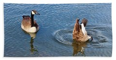 One Up One Down Beach Towel by Cynthia Guinn