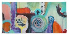 One Way To Go Beach Towel by Susan Stone