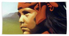 One Who Soars With The Hawk Beach Towel