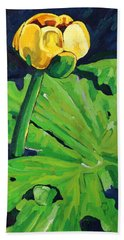 One Yellow Lily Beach Towel
