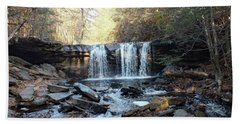 Oneida Falls 2 - Ricketts Glen Beach Towel