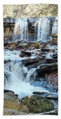 Oneida Falls 4 - Ricketts Glen Beach Towel