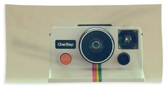 Beach Sheet featuring the photograph Onestep Polaroid by Ana V Ramirez