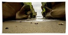 Beach Towel featuring the photograph Only At Low Tide by Ryan Weddle