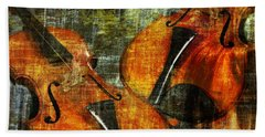 Only Music Heals A Broken Heart Beach Towel by LemonArt Photography