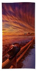 Beach Towel featuring the photograph Only This Moment In Between Before And After by Phil Koch