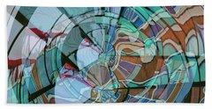 Op Art Windows Double Exposure Beach Sheet by Marianne Campolongo