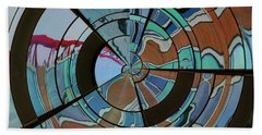 Op Art Windows Orb Beach Towel
