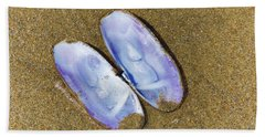 Open Clam Shell Beach Towel