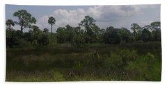 Open Meadow Of Trees Beach Sheet