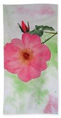 Open Rose Beach Towel by Elvira Ingram
