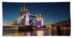 Open Tower Bridge London  Beach Towel