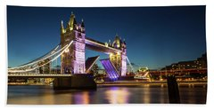 Open Tower Bridge London  Beach Sheet by Mariusz Czajkowski