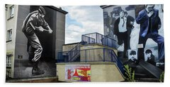 Operation Motorman Mural In Derry Beach Towel by RicardMN Photography