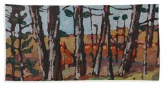 Opinicon November Forest Beach Towel