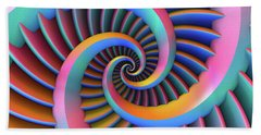 Opposing Spirals Beach Towel