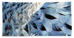 Blue Limpkin Beach Towel