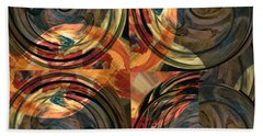 Beach Towel featuring the photograph Optical Abstraction by Liz Alderdice