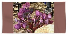 Beach Sheet featuring the photograph Opuntia Chisoensis Cactus by Jay Milo