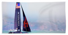 Oracles Usa  America's Cup Paint  Beach Towel