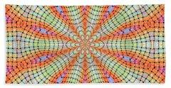 Beach Towel featuring the digital art Orange And Green by Elizabeth Lock