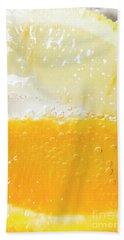 Orange And Lemon In Cocktail Glass Beach Towel