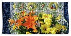 Beach Towel featuring the photograph Orange And Yellow Delights by Nancy Lee Moran
