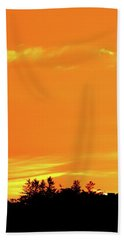 Beach Towel featuring the photograph Orange And Yellow Sky  by Lyle Crump