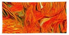 Orange Art Beach Towel